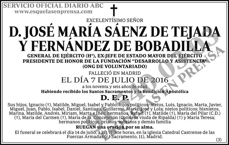 José María Sáenz de Tejada y Fernández de Bobadilla